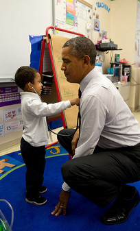 President Obama with future doctor
