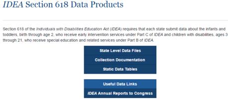IDEA data webpage