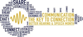 Better Hearing and Speech Month 2017 logo