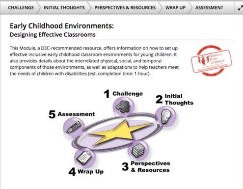 IRIS designing effective classrooms module screenshot