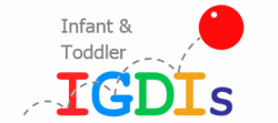 IGDIs for infants and toddlers logo - text with ball