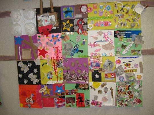 Green Gables Recycled Materials Artwork