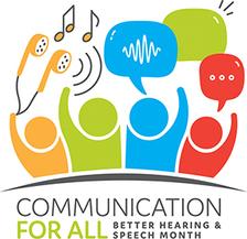 Better Hearing and Speech Month 2018 logo