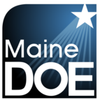 Maine Department of Education logo with shooting star