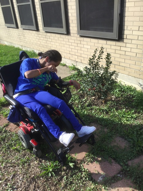 Southside Student Tends to Plant