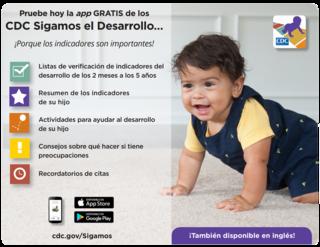 Pruebe hoy la app GRATIS de los CDC Sigamos el Desarrollo