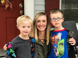 Courtney Hansen and her two young boys
