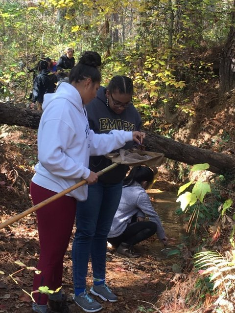 Lanier High Students at Elachee Nature Center