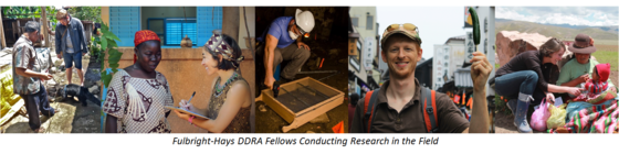 Fulbright-Hays DDRA Fellows Conducting Research in the Field