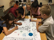Students at Ash Fork Elementary work on a project.