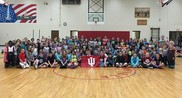 Unionville Elementary students in the gym