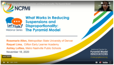YouTube image: Webinar on What Works in Reducing Suspensions: The Pyramid Model