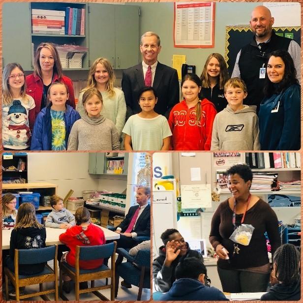 Brogan during North Carolina school visits