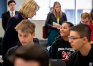 Secretary DeVos with Pinecrest Cadence students