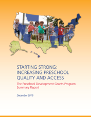 Cover of Strong Start - Increasing Preschool Quality and Access