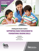 Cover of A Kindergarten Teacher's Guide to Supporting Family Involvement in Foundational Reading Skills