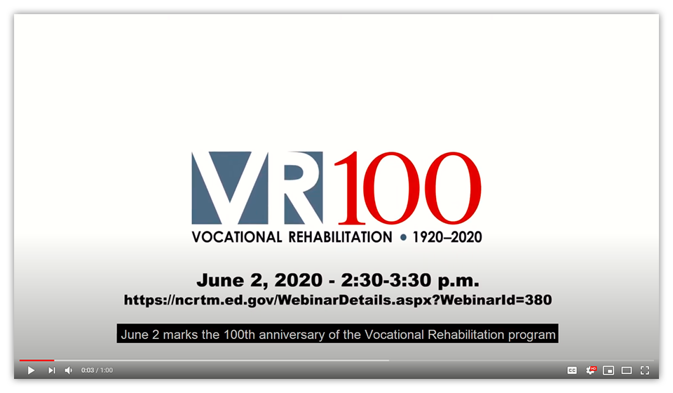 Watch the YouTube trailer for the June 2, 2020 VR100 Anniversary celebration