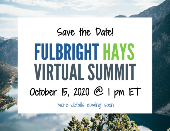 2020 Fulbright-Hays Virtual Summit Save the Date