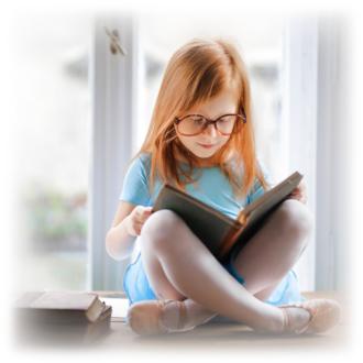 Girl reading a book 2