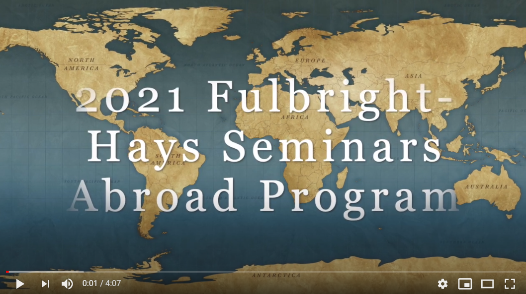FY 2021 Seminars Abroad Video