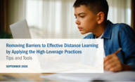 "Download ""Removing Barriers to Effective Distance Learning by Applying the High-Leverage Practices"" (PDF)"