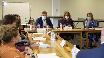 Assistant Secretary Castillo and Senators Manchin and Capito engage with Generation West Virginia NewForce program participants.