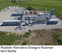 Roeslein Alternative Energy's Ruckman farm facility.