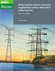 Engineered Carbon Reduction Listening Day Summary Report