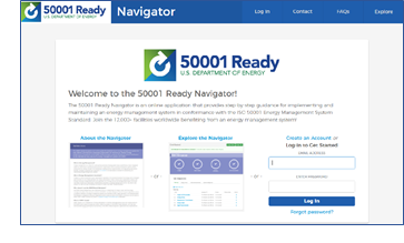 screenshot of the 50001 ready home page