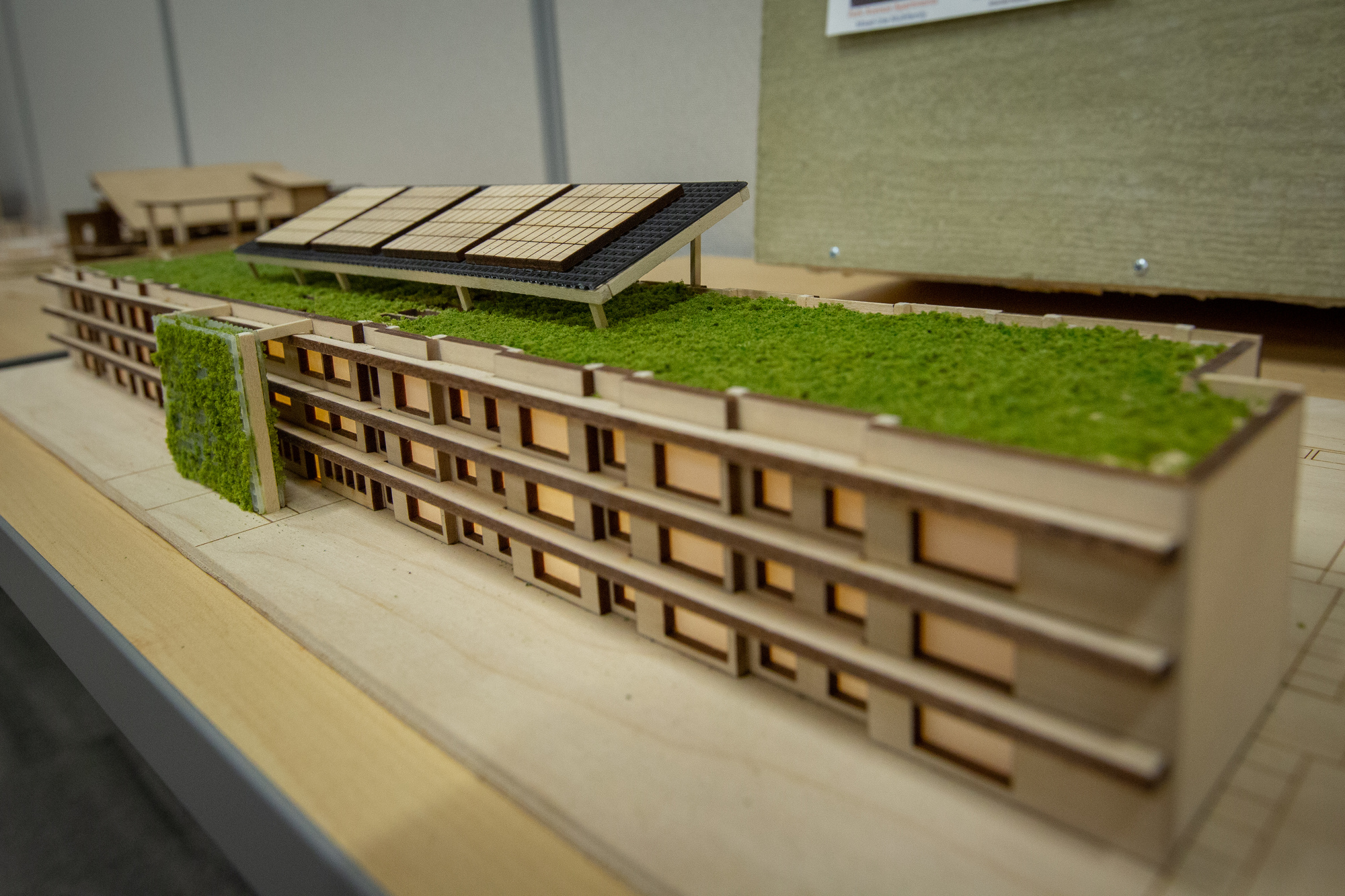Scale model of a house from the competition.