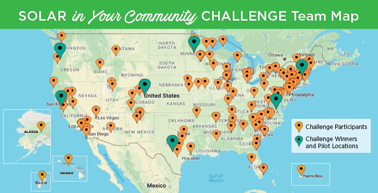 Solar in Your Community Challenge Winners Map