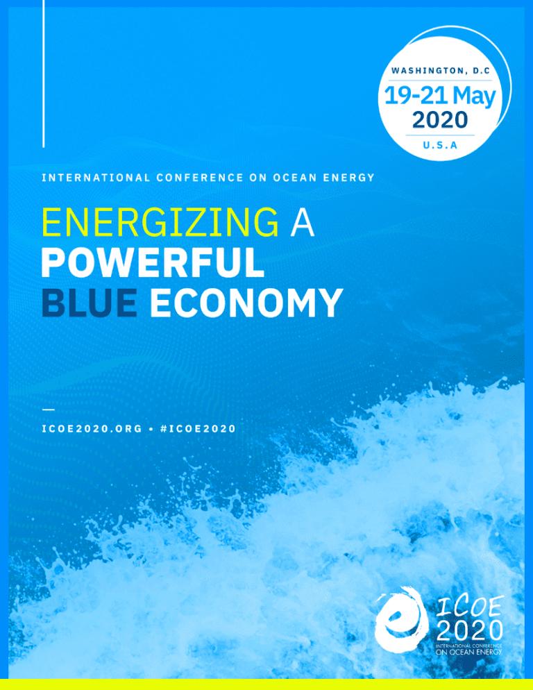 """""""Energizing a Powerful Blue Economy"""