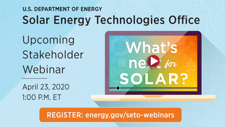 SETO Quarterly Webinar April 2020