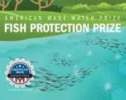 fish protection prize illustrated logo of a riverside