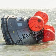 The CMUS is designed to inflate five bags after the Orion spacecraft and its crew splash down.