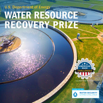 """Banner saying """"Water Resource Recovery Prize."""""""