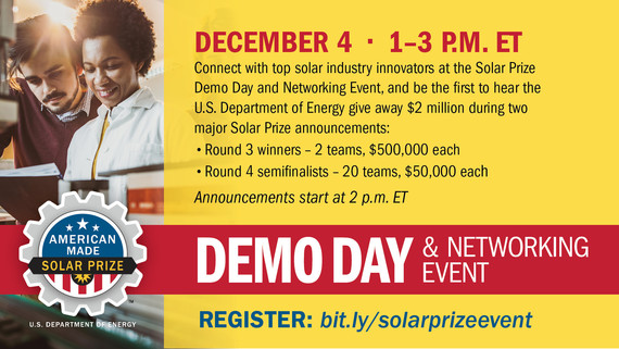 Solar Prize Demo Day and Networking Event