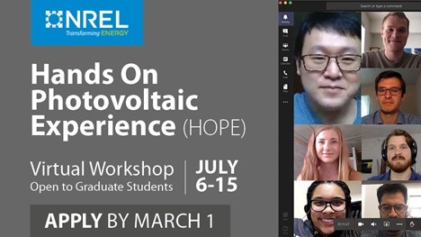 Hands-On Photovoltaic Experience (HOPE) workshop