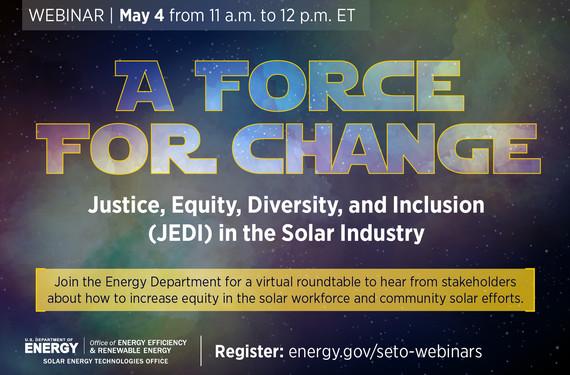 JEDI Webinar on May 4