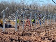 Bad River solar panel construction