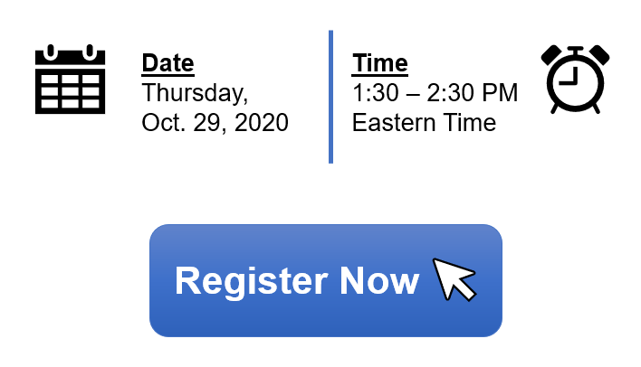 Informational webinar for applicants is available on Thursday, October 29, 2020 from 1:30 to 2:30 PM Eastern time.
