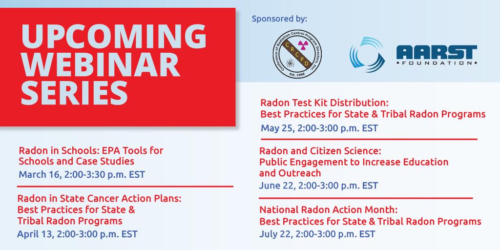 Radon Webinar Schedule