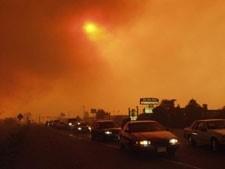 Photo from FEMA / Bryan Dahlberg of a smoke event
