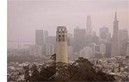 Smoke over downtown San Francisco.