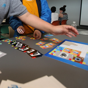 Kids playing the Generate Game