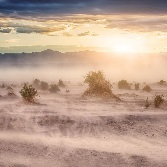 Photo of dust storm in Death Valley