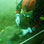 EPA diver taking a sample