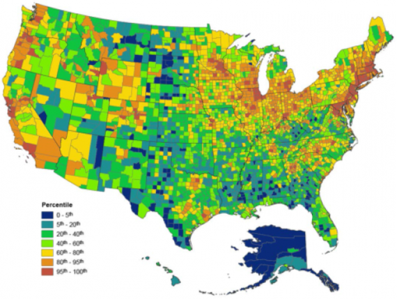 Epas Environmental Quality Index Supports Public Health Health - Air-pollution-us-map