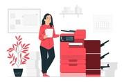 Printer & Lady