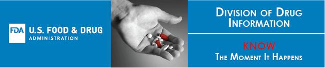 FDA Logo, hands holding pills